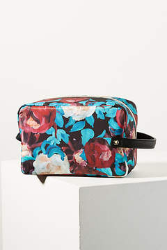 Anthropologie Floral Overlay Cosmetic Case
