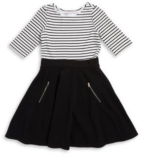 Sweet Heart Rose Sweetheart Rose Girl's Striped Contrast Dress
