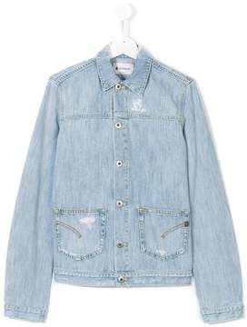 Dondup Kids distressed denim jacket