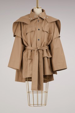 Courreges Belted pea jacket