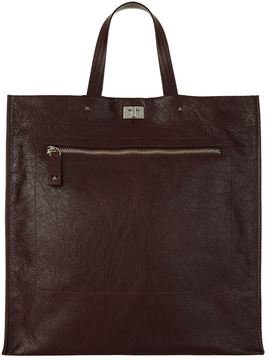Valentino Cracked Leather Tote