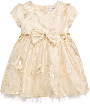 Sweet Heart Rose Metallic Brocade Dress, Baby Girls (0-24 months)