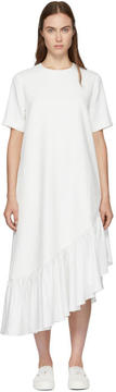 Edit White Asymmetric Oversized Peplum Dress