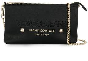 Versace embossed logo clutch