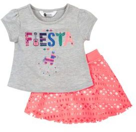 Petit Lem Baby's El Fiesta 2-Piece Top and Skirt Set