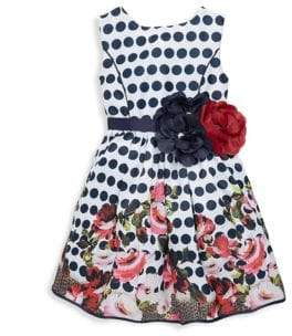 Imoga Little Girl's & Girl's Elizabeth Polkadot Dress