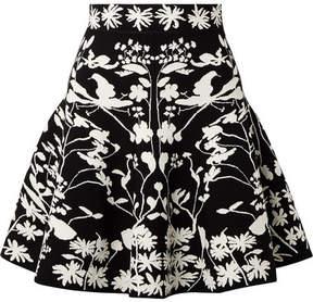 Alexander McQueen Jacquard-knit Mini Skirt - Black
