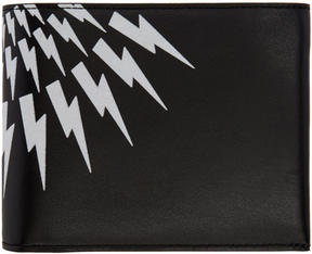 Neil Barrett Black Classic Thunderbolt Wallet