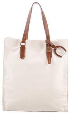 Ralph Lauren Canvas Leather-Trimmed Tote