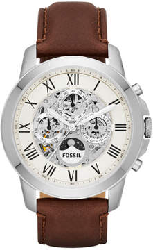 Fossil Grant Automatic Brown Leather Watch
