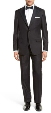 Hickey Freeman Men's Classic B Fit Tasmanian Wool Tuxedo