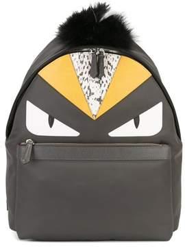 Fendi Men's Grey Leather Backpack.