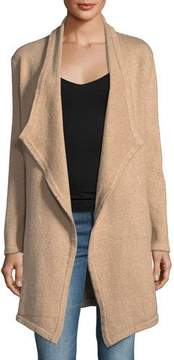 Cupcakes And Cashmere Sahar Open-Front Long-Sleeve Cotton-Blend Cardigan