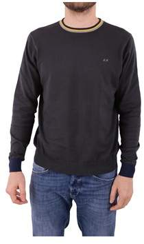 Sun 68 Men's Grey Cotton Sweater.