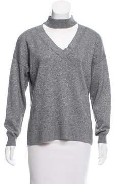 Allude Metallic Knit Sweater