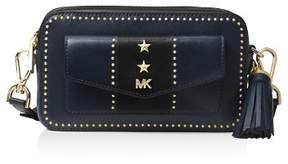 MICHAEL Michael Kors Small Pocket Studded Leather Camera Bag