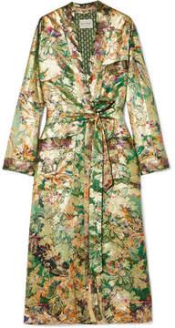Etro Silk-blend Jacquard Jacket - Green