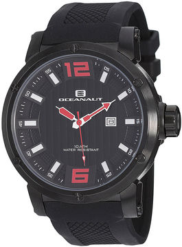 Oceanaut Spider Mens All Black Silicone Strap Watch