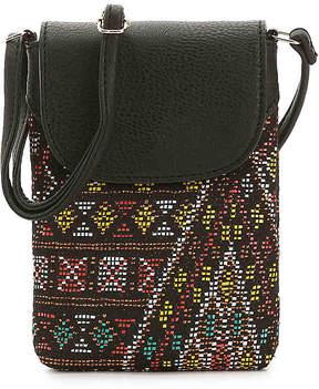 Women's Duronga Crossbody Bag -Black Woven Fabric