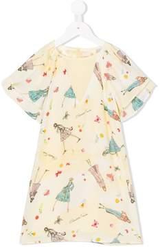 Elisabetta Franchi La Mia Bambina printed short sleeve dress