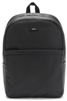 Hugo Boss Traveller Backp Textured Leather Backpack One Size Black