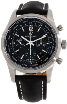 Breitling Transocean Unitime Chronograph Pilot AB0510U6/BC26 Stainless Steel 46mm Mens Watch
