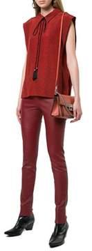 Givenchy Women's Orange Leather Shoulder Bag.