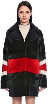 Drome Reversible Patchwork Shearling Coat