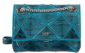 Roger Vivier Mini Snakeskin Prismick Bag