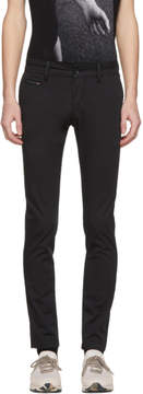 Diesel Black Chi-Shaped Chino Trousers