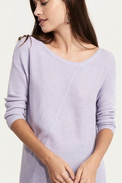 Dynamite Ribbed Sweater with Asymmetrical Hem