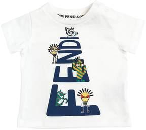 Logo Printed Cotton Jersey T-Shirt