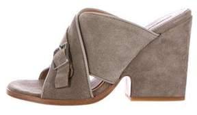 Alberto Fermani Fiona Suede Slide Sandals