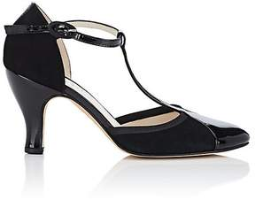 Repetto WOMEN'S BAYA PATENT LEATHER & SUEDE T-STRAP PUMPS