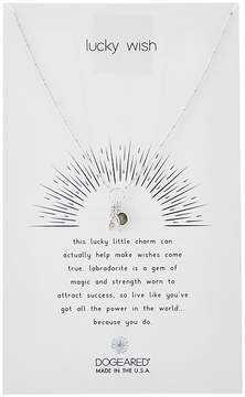 Dogeared Lucky Wish, Wishbone and Labradorite Bezel Cluster Necklace Necklace