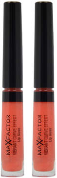 Max Factor Sophisticated Vibrant Curve Effect Lip Gloss - Set of Two