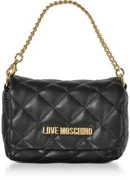 Love Moschino Mini Bag Black Eco-Leather Clutch