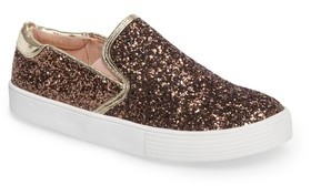 Kenneth Cole New York Girl's Cami Slip-On Glitter Sneaker
