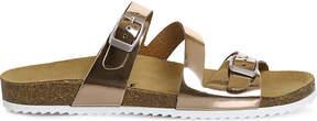 Office Bounty metallic strap sandals