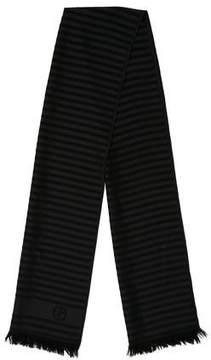 Giorgio Armani Striped Wool Scarf