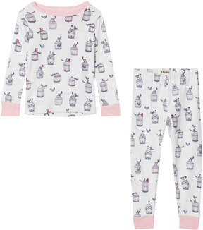 Hatley White Free Birds Long Sleeve Pajama Set