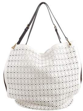 Tod's Large Perforated Leather Bucket Bag