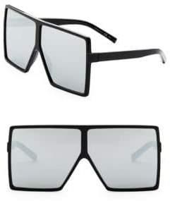 Saint Laurent SL 183 Betty 68MM Oversize Mirrored Shield Sunglasses