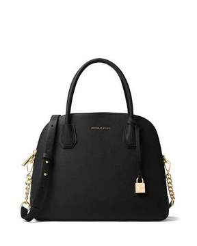 MICHAEL Michael Kors Mercer Large Dome Satchel Bag - BLACK - STYLE