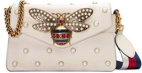Gucci Broadway leather clutch - WHITE LEATHER - STYLE