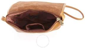Royce Leather Royce Tan Colombian Leather Flap Over Crossbody Bag