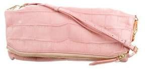 Burberry Alligator Fold-Over Bag