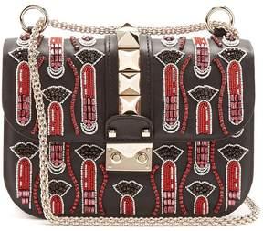 Valentino X Zandra Rhodes Lock small leather shoulder bag