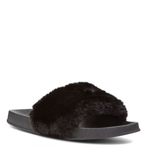 Nine West Brennens Slides with Heart Embroi