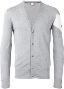 Moncler Gamme Bleu Knit patch sleeve cardigan